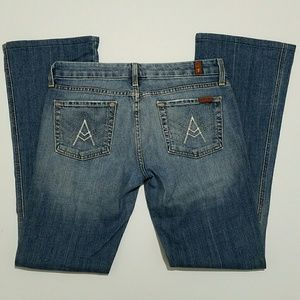 7 For All Mankind A Pocket Jeans Med Wash Size 30